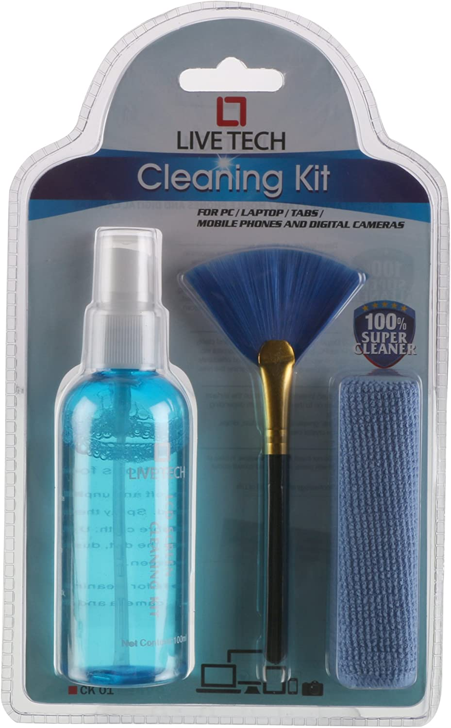 Pro Cleaning Kit with Advanced Sterile Liquid, Micro-Fibre Cloth and Anti-Static Brush