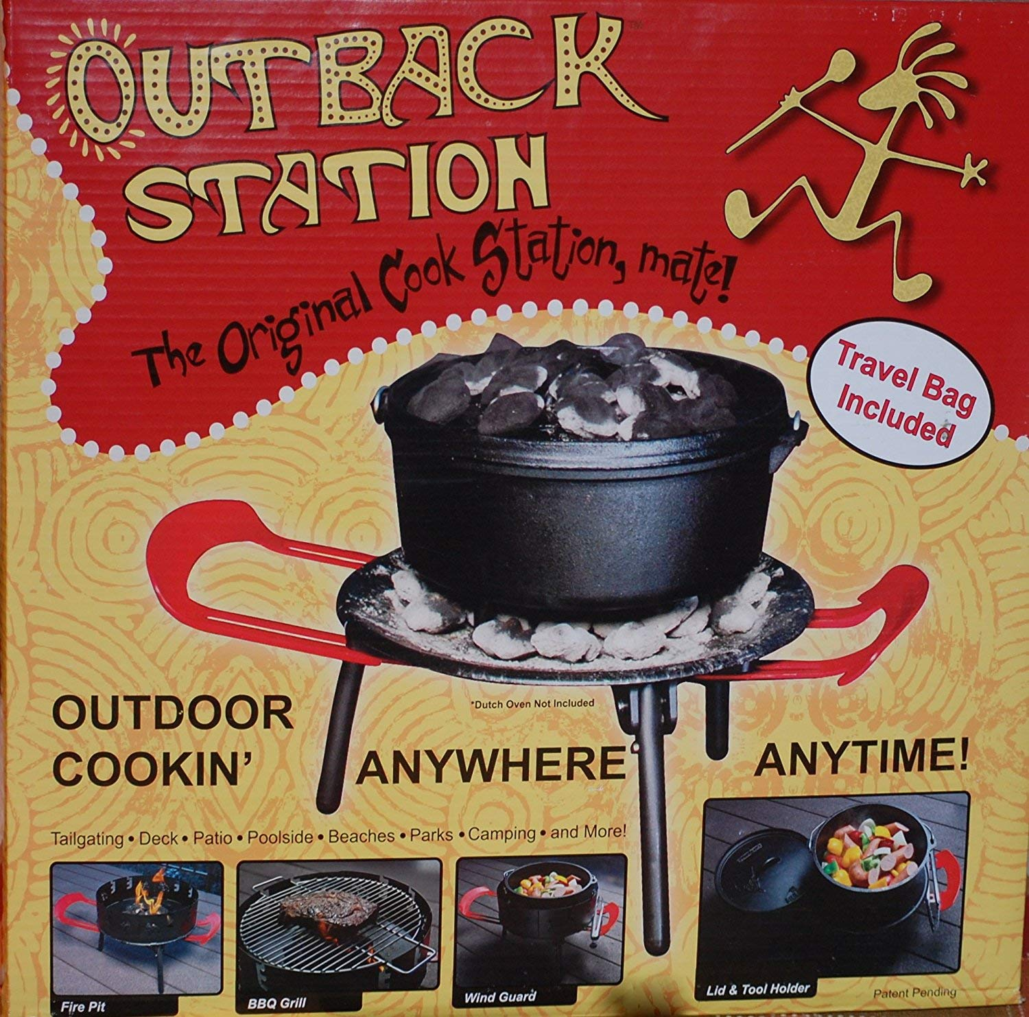 Outback Station Portable Outdoor Grill, Outdoor Grill and Dutch Oven Stand - Dutch Oven not Included by Outback Station