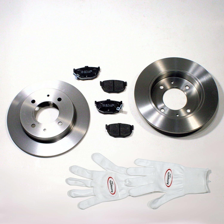 Autoparts-Online Set 60004586 Bremsscheiben 260 mm Bremsen Bremsbel/äge f/ür Hinten die Hinterachse