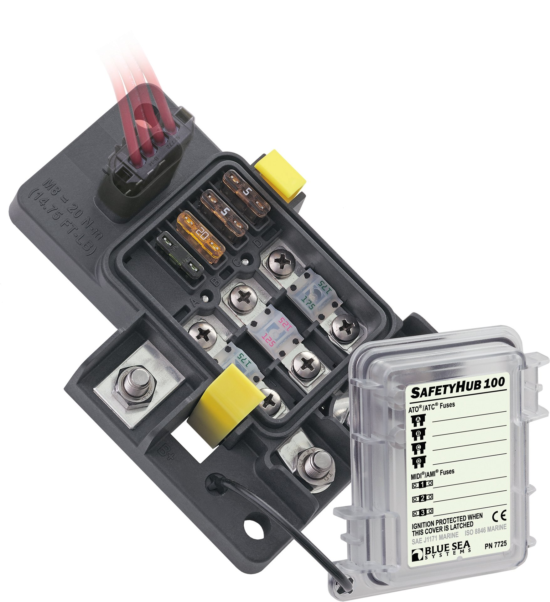 Blue Sea Systems SafetyHub 100 Fuse Block product image