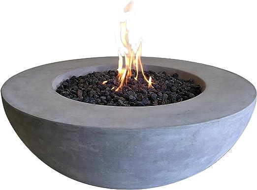 Kaminlicht Luz para Chimenea, Zona de Fuego de Gas de Átna, de hormigón de Fibra, jardín, terraza: Amazon.es: Jardín