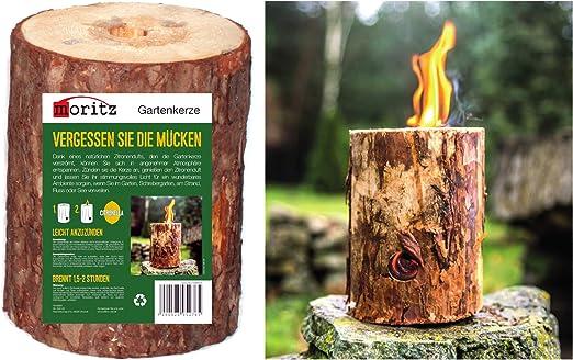Moritz - Antorcha sueca de madera natural para jardín, exterior: Amazon.es: Jardín