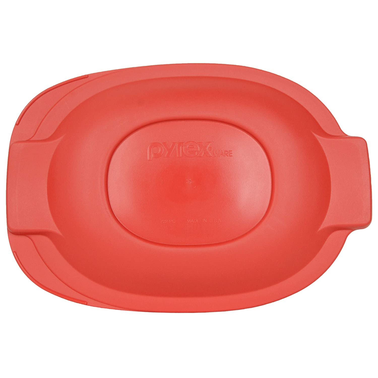 Amazon.com: Pyrex 702-PC 2.5 Quart Oval Red - Tapa de ...