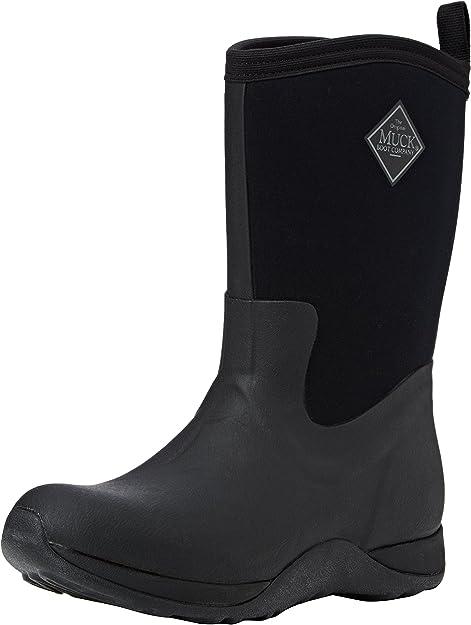 Brand New Women/'s Black Neoprene Rubber Short Booties Size 8,11