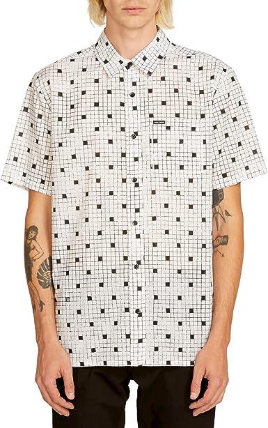 Volcom Crossed Up S/s Camisa Manga Corta Hombre Blanco: Amazon.es: Ropa y accesorios