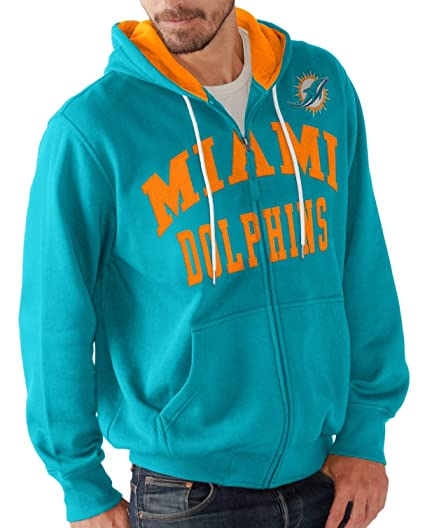 6126e55c Amazon.com : Miami Dolphins Men's Long Sleeve Pass Attempt Hoodie ...