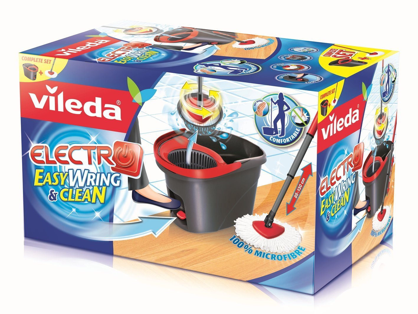 vileda Easy Wring & Clean Electro Komplett-Set Bodenwischer: Amazon.com: Grocery & Gourmet Food