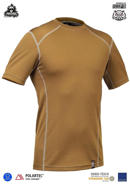 8e033f36 P1G-TAC Military Tactical Athletic Workout Moisture Wicking Crew T-Shirt  PCTT-Delta (Punisher line, Polartec Delta) | Amazon.com