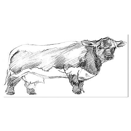 Amazon com: Design Art Designart 'Handdrawn Dairy Cow