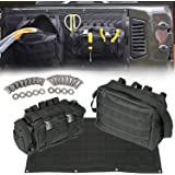 【Upgrade Version】 Opall Tailgate Cover Multi-Pockets Storage & Tool Kit & Cargo Bag Saddlebag Organizer Pockets Waterproof Cargo Carrier for 2007-2015 Jeep Wrangler JK 2 and 4-door models