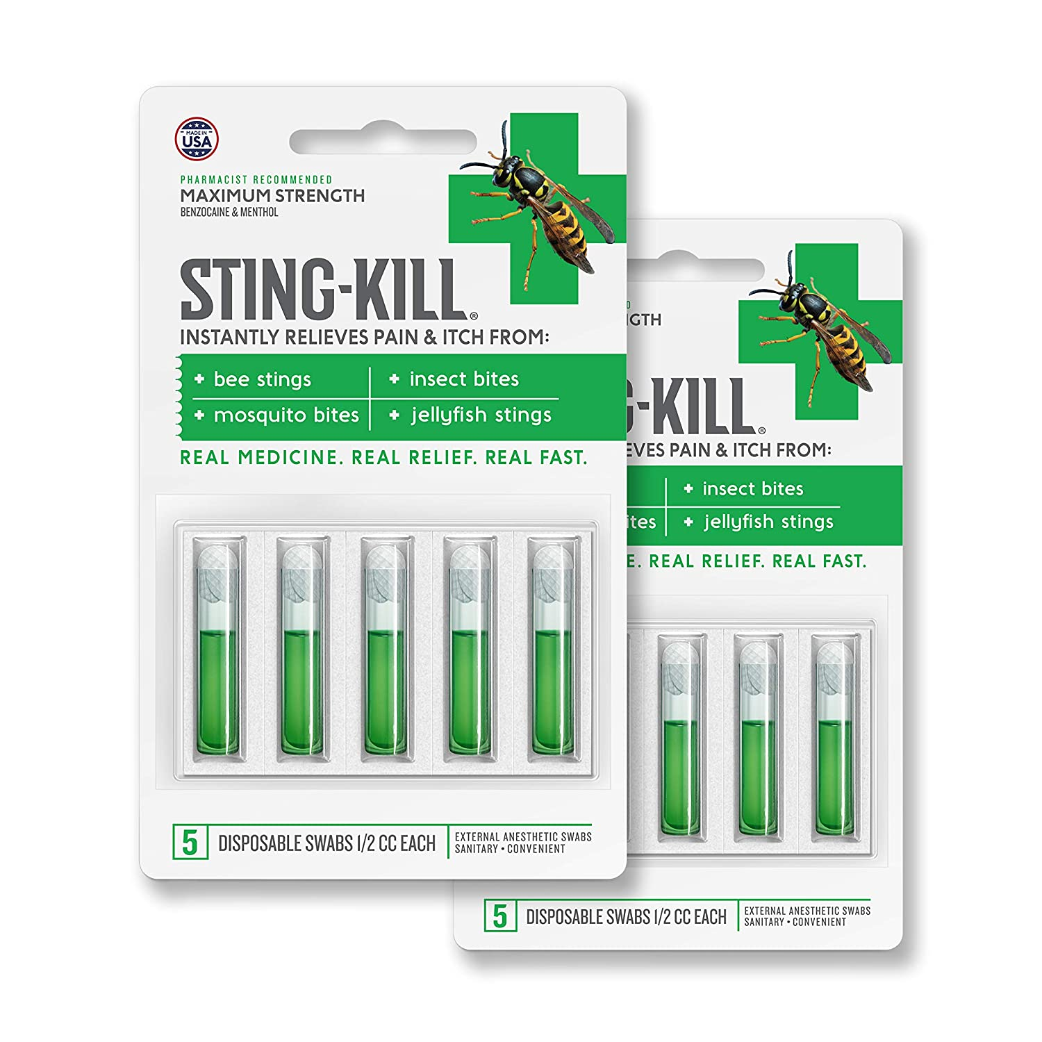 Amazon.com : Sting-Kill First Aid Anesthetic Swabs, Instant Pain + ...