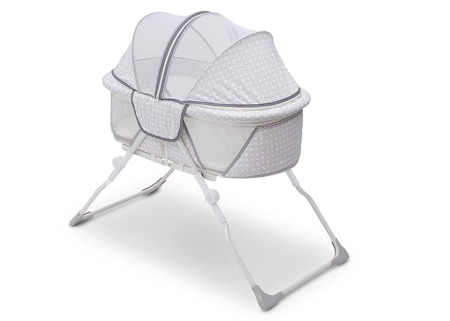 Delta Children EZ Fold Ultra Compact Travel Bassinet, Inner Circle