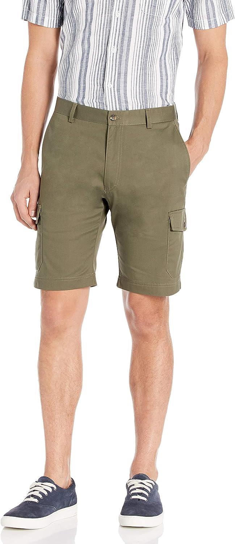 Louis Raphael KHAKIS Men's Flat Front Cotton Blend Cargo Short