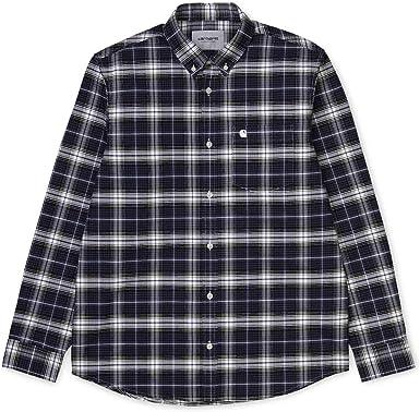 Carhartt L/s Linville Camisa para Hombre Azul/Wax L: Amazon.es: Ropa y accesorios
