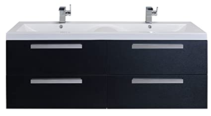 Delicieux Eviva EVVN144 57BW Surf 57 Inch Modern Bathroom Vanity Set With Integrated  White Acrylic Double