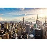 Papier Peint Photo Mural-NEW YORK SKYLINE (44P)-350x260cm 7 lés (chague 50x260cm)-IMPRESSION NUMÉRIQUE haute qualité photoréaliste!-La Colle Inclus-Poster Géant XXL Manhattan Central Park Skyscrapes Ville États-Unis USA