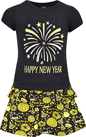 Boys Wake Ball Drop New Years Outfit Layette Set Boutique Toddler Kids Clothes