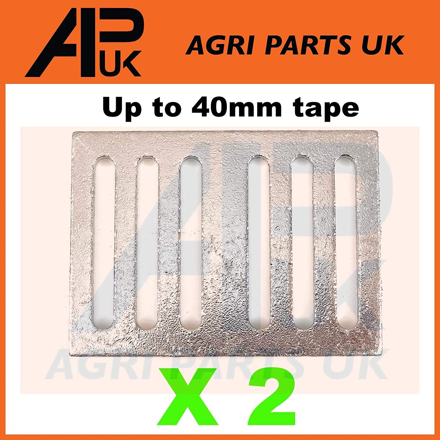 APUK 2 Electric fence fencing tape connector Plates Joiner 20//40mm Buckle connection