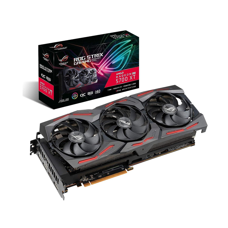 ASUS ROG Strix Radeon RX 5700 XT OC Edition 8GB GDDR6 - Tarjeta gráfica (Ventiladores Axial-Tech, tecnología Auto-Extreme, Super Alloy Power II, MAX ...