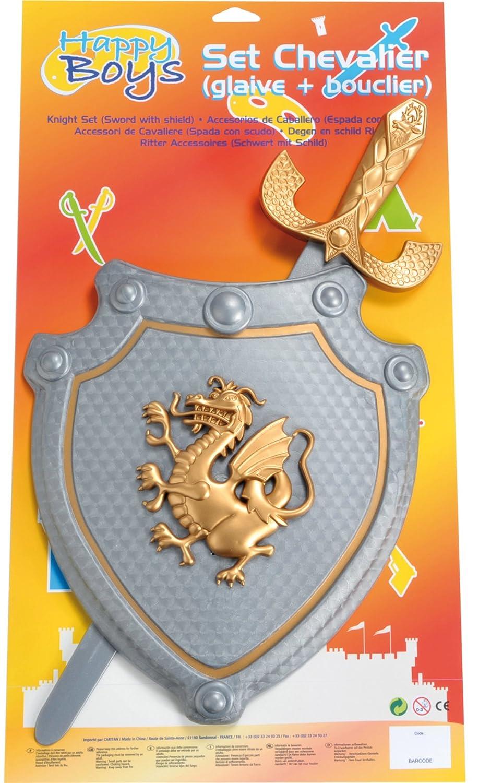 Happy Boys - Escudo y espada de juguete para disfraz de caballero para niño 59231