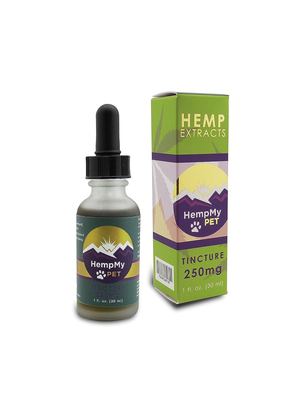 HempMy Pet 250 mg de (activos de extracto de cáñamo): súper tintura en una botella de 30 ml, toda colorado planta, EE.UU. cultiva extracto de cáñamo ricos ...