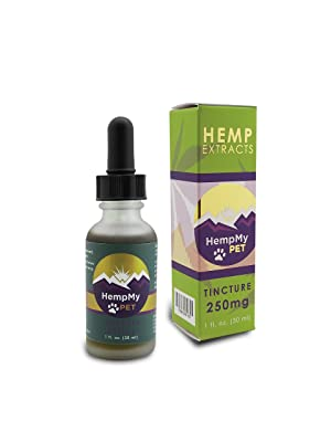 Hemp Pet 250mg of (Hemp Extract Actives): Tincture Superfood in a 1oz bottle, Whole Plant Colorado grown Hemp Extract and Certified Organic Hemp Seed Oil rich in Omegas