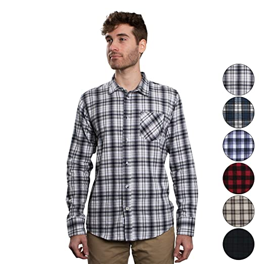c75038d5281c3 Men's Untucked Plaid Flannel Shirt: Slim Fit, Long Sleeve - Made in The USA