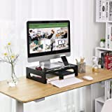 SONGMICS Bamboo Wood Monitor Computer Riser with