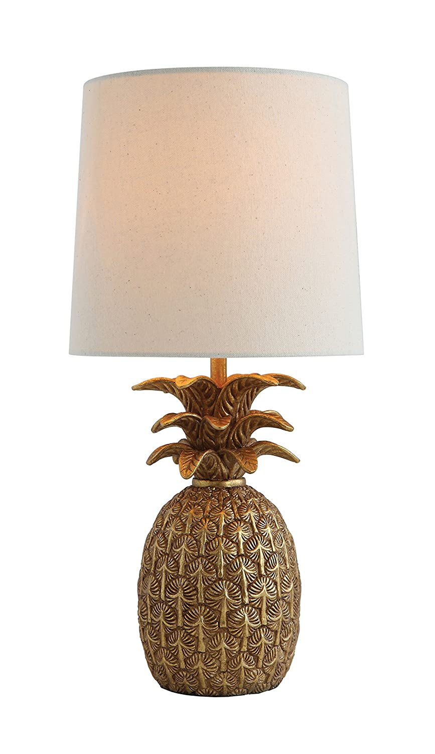 Amazon creative co op da7087 palmfauna pineapple shaped table amazon creative co op da7087 palmfauna pineapple shaped table lamp with distressed gold finish linen shade home kitchen aloadofball Images