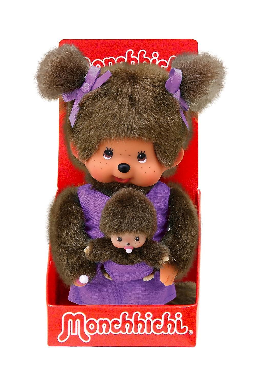 Amazon.com: Monchhichi - 23649Mcc - Peluche - Maman Et Son Bébé Violet: Toys & Games