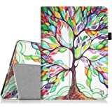 Fintie iPad 1 Folio Case - Slim Fit Vegan Leather Stand Cover with Stylus Holder for Apple iPad 1 1st Generation, Love Tree