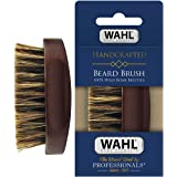 Wahl Small Travel Beard Brush with 100% Boar Bristles with Firm Natural Hair for Grooming & Styling – Wood Handle for Beards,