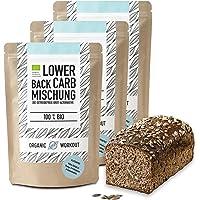 LOWER-CARB PAIN MIX 3 Pack - 100% Bio | paleo | sans gluten | pain protéiné | haute fibre | sans sucre ajouté | sans grain | fabriqué en Allemagne