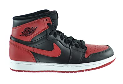 Air Jordan 1 Retro High OG Men's Shoes Black/Varsity Red/White 555088-