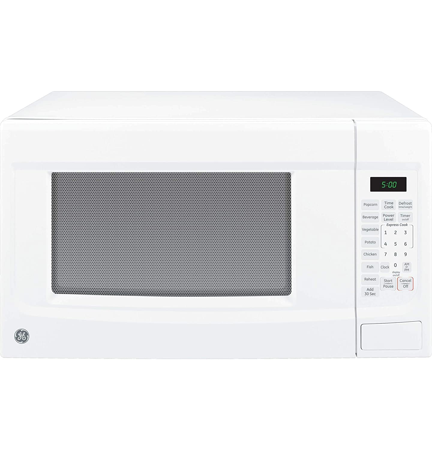 GE JES1460DSWW 1.4 cu. ft. Countertop Microwave - White (Certified Refurbished)