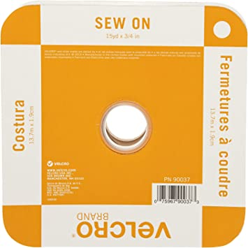 No Ironing or Gluing Ideal Substitute for Snaps and Buttons Black Sew On Fabric Tape for Alterations and Hemming VELCRO Brand For Fabrics Tape 15ft x 2in