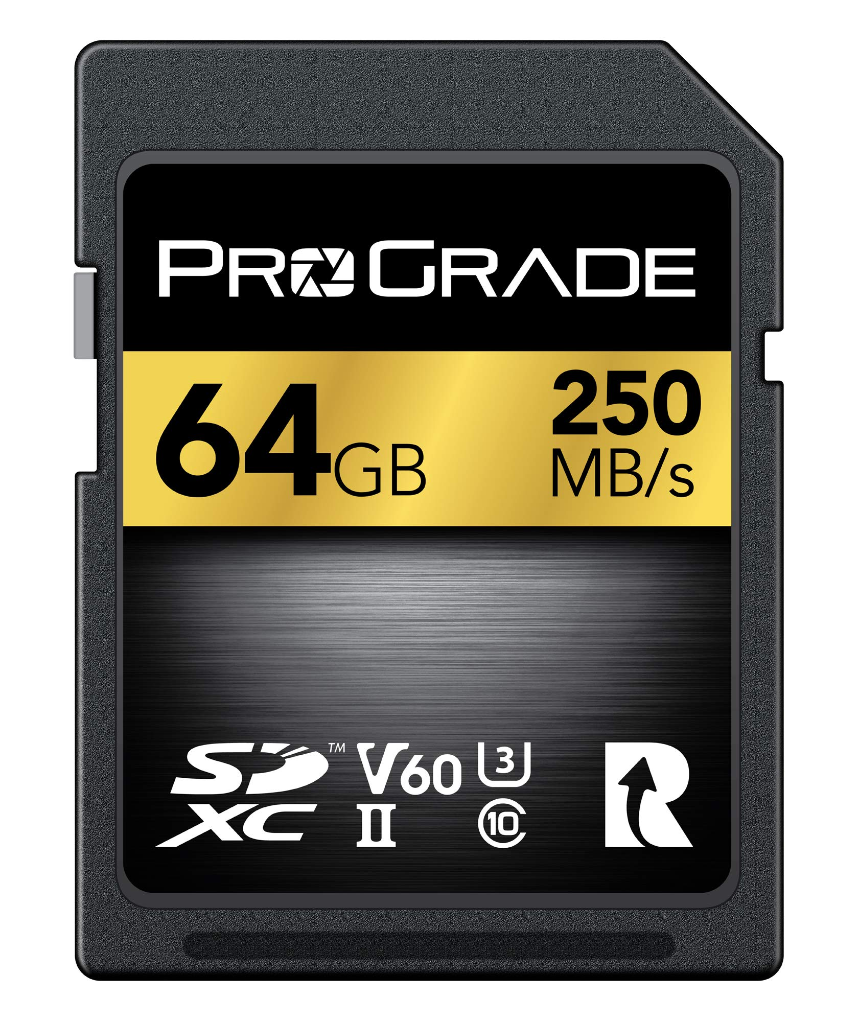 SD Card V60 (64GB) -Up to 130MB/s Write Speed and 250MB/s Read Speed | for Professional Vloggers, Filmmakers, Photographers & Content Curators - Update Firmware Included - by ProGrade Digital by ProGrade Digital