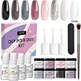 AZUREBEAUTY Nude Gray 8 Colors Dipping Powder Nail Starter Kit Acrylic Dipping Powder System Essential Kit for French…