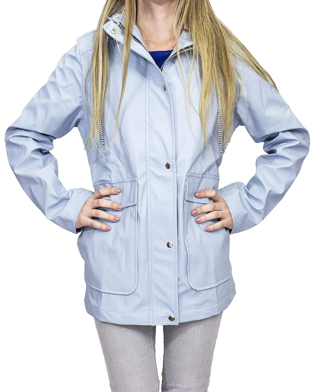 Amazon.com: Chaqueta impermeable para mujer, diseño de ...