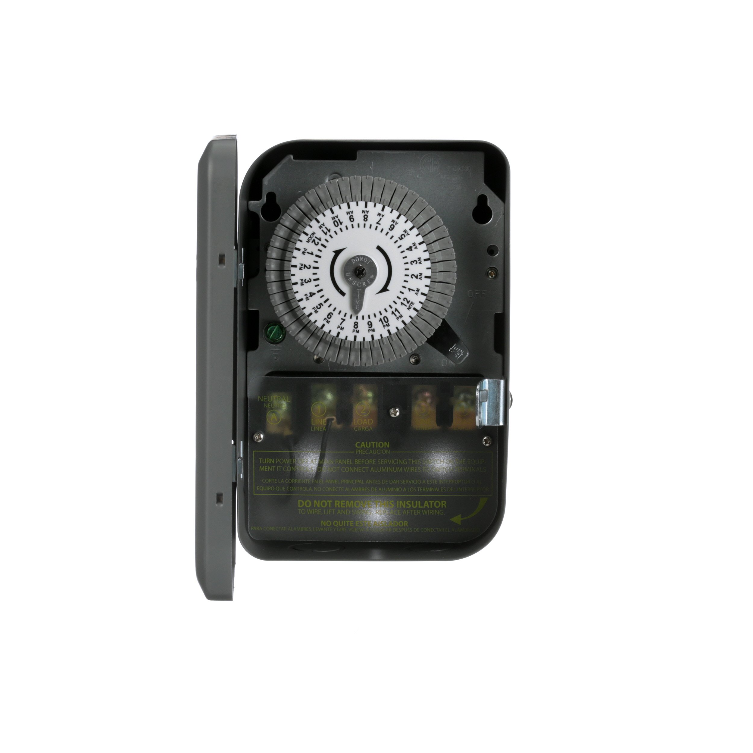 Woods 59103WD Indoor 24-Hour Heavy Duty Mechanical Time Switch, 120V/40A DPST by Woods