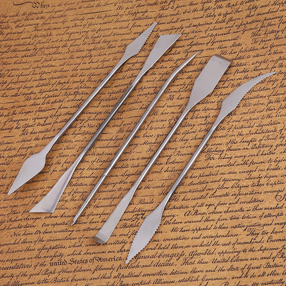 Herramientas De Talla 5 Piezas Herramientas De Talla De Acero Inoxidable Cera Arcilla Cer/ámica Tallado Escultura De Modelado DIY Craft Art Tools Set Herramientas De Escultura