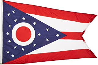 product image for Annin Flagmakers Model 144270 Ohio State Flag 4x6 ft. Nylon SolarGuard Nyl-Glo 100% Made in USA to Official State Design Specifications.