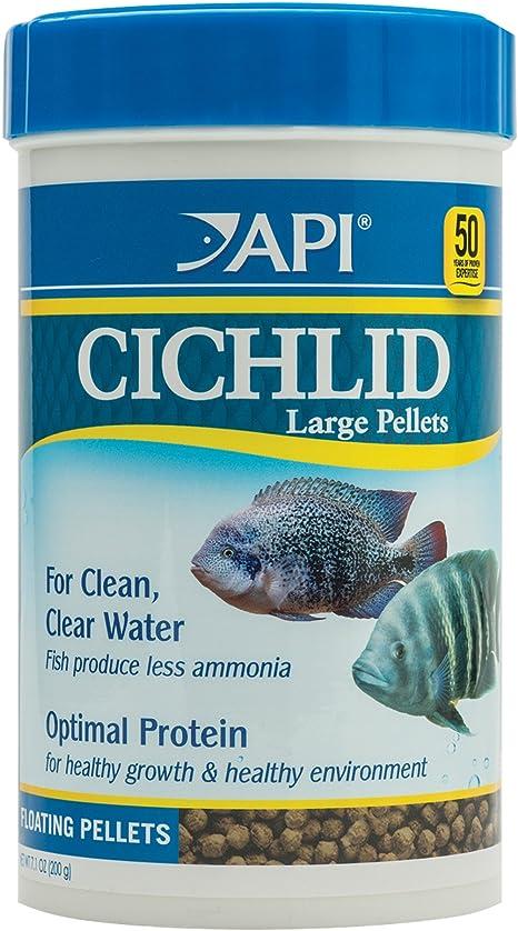 API Cichlid - Pellets Grandes flotantes para Alimentos de Pescado, 380 g, 1 Unidad