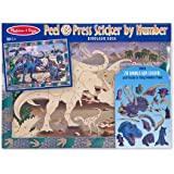 Melissa & Doug Peel and Press Sticker by Number Activity Kit: Dinosaur Dusk - 70+ Stickers, Frame