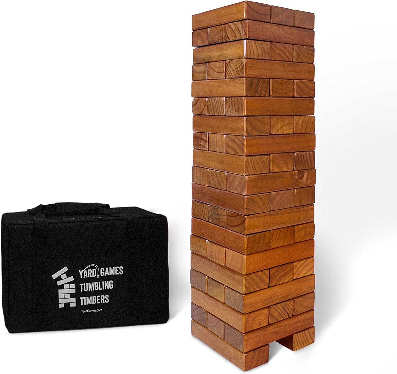 Juego de Madera Gigante con Acabado de Manchas y Estuche de Transporte Duradero: Amazon.es: Juguetes y juegos