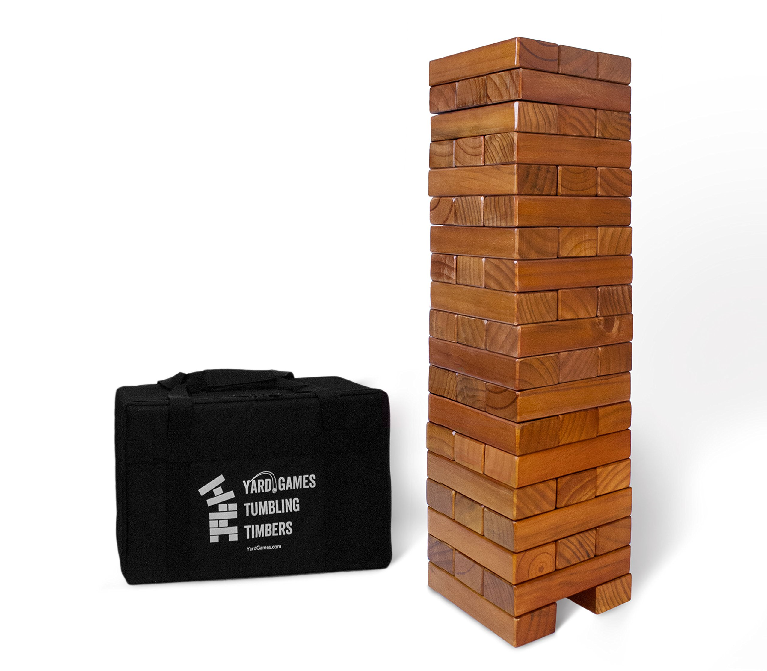 Giant Tumbling Timbers Stained and Finished Set by Yard Games