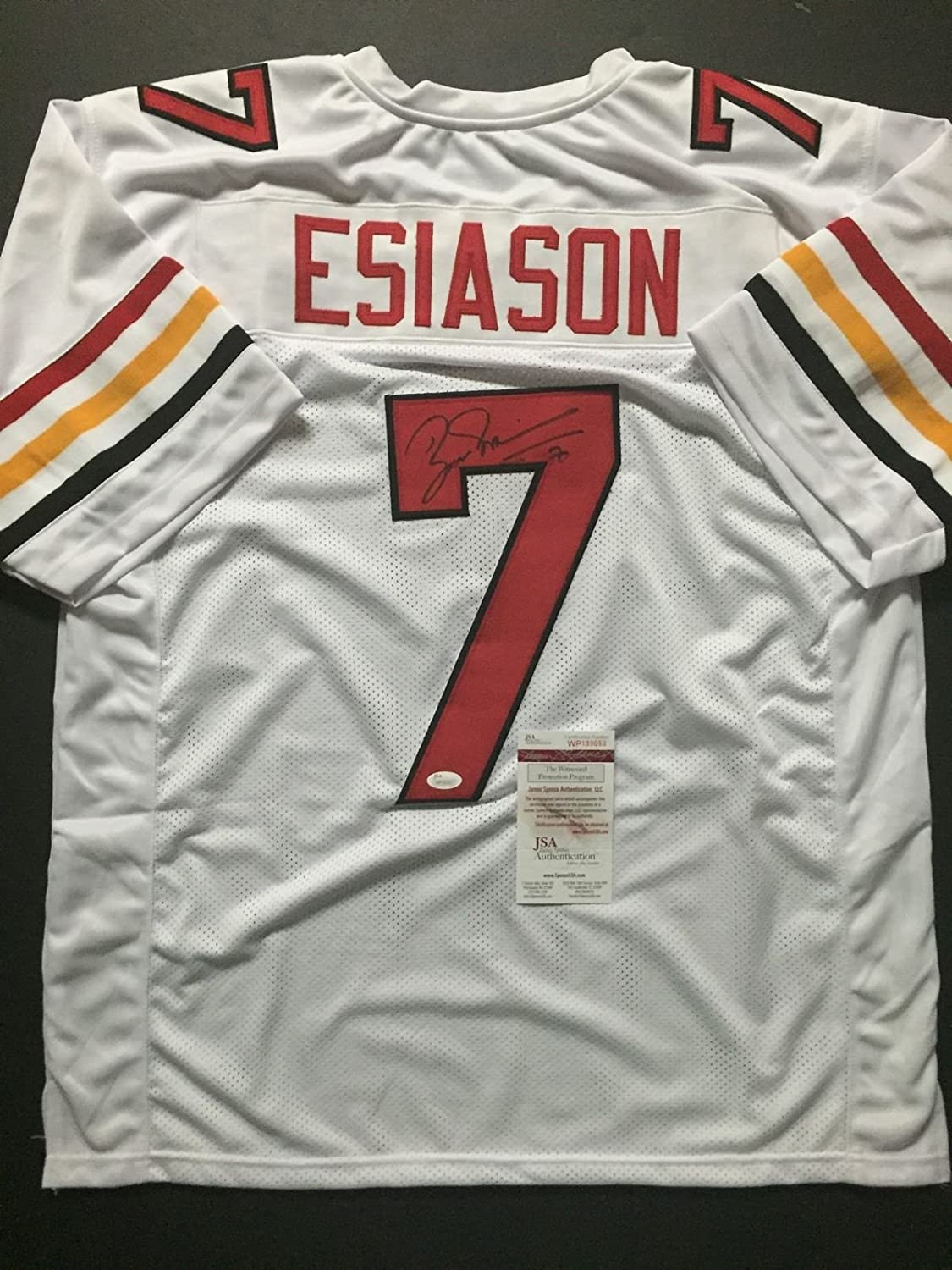 new style e6f38 fcffb Autographed/Signed Boomer Esiason Maryland White College ...