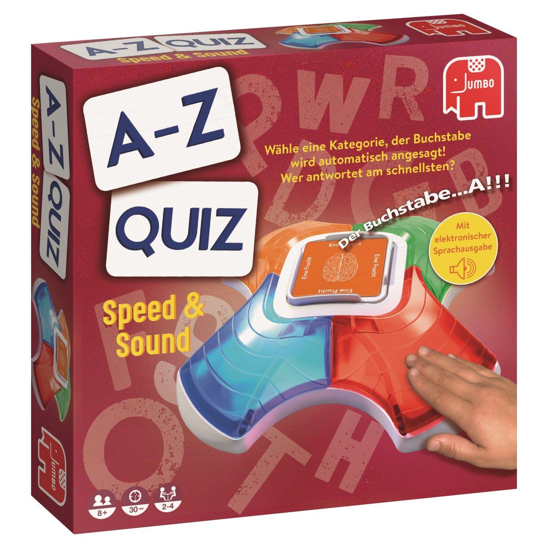 Jumbo Spiele 19597 A-Z Quiz Speed & Sound, Keine