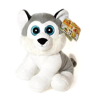 """MY LITTLE DOG -Perro Husky de peluche ojos brillantes 11""""/28cm - Calidad"""