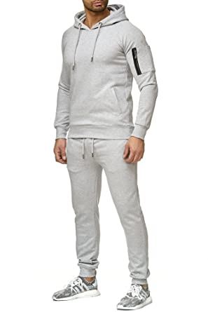 Reslad Herren Jogginganzug Trainingsanzug Sportanzug Jogging Hose + Sweatshirt Oberteil RS 5071